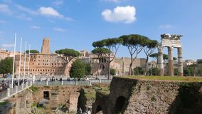 Ruins of the Roman Forum. Rome, Italy