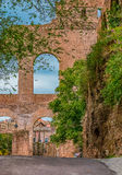Ruins of the Roman Forum in Rome Italy Stock Photos