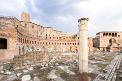Ruins at the Roman Forum of Trajan Royalty Free Stock Photos