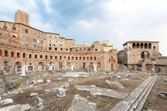 Ruins at the Roman Forum of Trajan Stock Photo