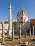 Ruins at the Roman Forum of Trajan Royalty Free Stock Photography