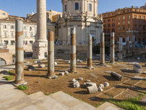 Ruins at the Roman Forum of Trajan Royalty Free Stock Images