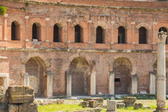 The Ruins of the Roman Forum. Trajan's Marketplace across from the Forum Stock Images