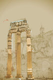 Ruins of the Roman Forum Royalty Free Stock Photography