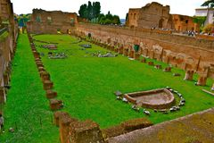 Ruins of a Roman Games Field Stock Photo