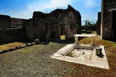 Ruins of roman house, Pompeii Royalty Free Stock Photos