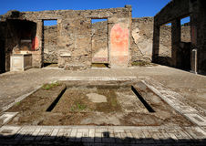 Ruins of roman house, Pompeii Royalty Free Stock Image