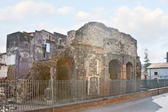 The ruins of Roman Odeon In Catania Stock Photo