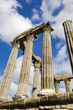 Ruins of a roman temple Royalty Free Stock Photo