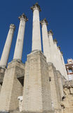 Ruins of the Roman Temple in Cordoba, Andalusia, Spain stock photography