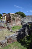 Ruins of Roman Terme di Nerone thermal baths in Pisa,Tuscany, Italy royalty free stock photos