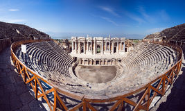 Ruins of Roman theater Stock Images