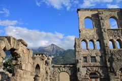 Ruins of Roman theater Stock Photos