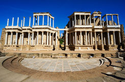 Ruins of Roman Theater in Mérida, Spain. Roman Theater Ruins, Mérida, Spain Stock Photos