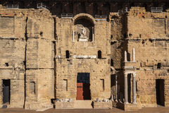 Ruins of the Roman theater in Orange. France Royalty Free Stock Photos