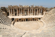Ruins of Roman theater in Turkey Stock Images