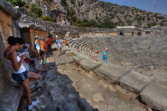 Ruins Roman theatre, Myra, in Lycia region of Anatolia, Turkey. Royalty Free Stock Image