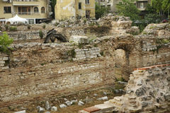 Ruins of the Roman Thermae in Varna. Bulgaria Stock Photos