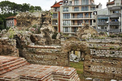 Ruins of the Roman Thermae in Varna. Bulgaria Royalty Free Stock Photos