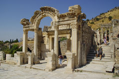 The ruins of the roman town of Ephes, in Turkey. Royalty Free Stock Image