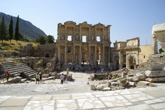 The ruins of the roman town of Ephes, in Turkey. Royalty Free Stock Photography