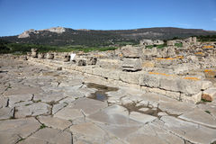 Ruins of roman town in Spain Stock Images