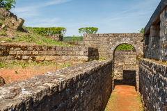Ruins of the Roman villa near Echternach stock photo