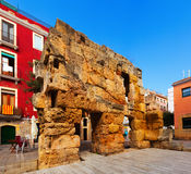 Ruins of Roman walls in Tarragona Stock Image