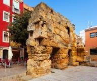 Ruins of Roman walls. Tarragona Royalty Free Stock Image