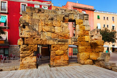 Ruins of Roman walls in Tarragona Stock Photography