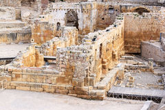 Ruins of Romanesque church in Tarragona, Spain. Tarragona Amphitheatre is a Roman amphitheatre in the Catalonia region of north-east Spain. It was built in the Stock Photos