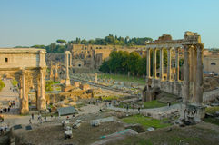 Ruins of Rome. Ruins of Roman forum, Rome, Italy Royalty Free Stock Photo