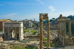 Ruins of Rome. Ruins of Roman forum, Rome, Italy Stock Images