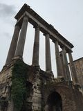 Ruins of Rome. Exploring Roman ruins while in Italy Stock Photo