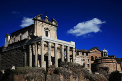 Ruins of Rome Forum Stock Photography