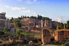 Ruins of Rome Forum Stock Photo