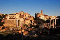 Ruins of Rome Forum Royalty Free Stock Photos