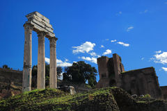 Ruins of Rome Forum in Rome Royalty Free Stock Image