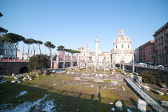 Ruins in Rome, Italy. Royalty Free Stock Photography