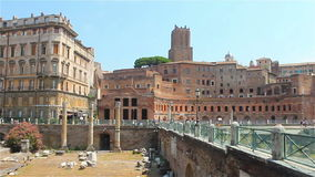 The ruins of Rome's historic center stock video footage