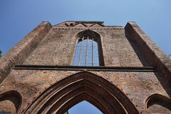 Ruins of the roofless German church Klosterkirche in the central Berlin Royalty Free Stock Photography