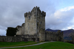 Ruins of Ross Castle in Killarney National Park. Ireland`s Ross Castle located in Killarney National Park Stock Photo