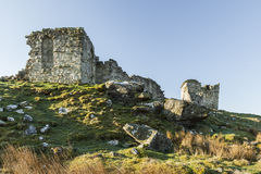 Ruins of Rothley Castle, Northumberland. England.UK. Ruins of Rothley Castle set on top of a moorland hill top in rural Northumberland Royalty Free Stock Photo