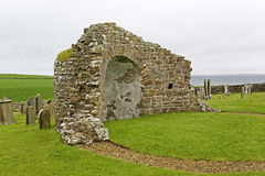 The ruins of the round church at Orphir, Scotland Stock Photography