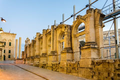 Ruins of the Royal Opera House in Valletta Royalty Free Stock Image