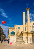 Ruins of the Royal Opera House in Valletta Stock Images