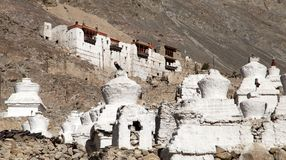 Ruins of royal palace in Nubra valley, Ladakh Royalty Free Stock Images