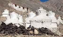 Ruins of royal palace in Nubra valley, Ladakh Stock Photos