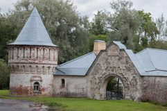 Ruins Royal Palace in Russia royalty free stock images