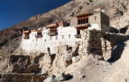 Ruins of royal palace in Tiger, Nubra valley Stock Photos